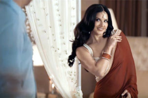 sunny leone in saree in manforce condom advertisement